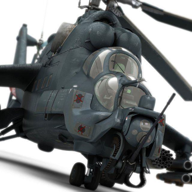 Mi-24 Super Hind 3D Model .max .c4d .obj .3ds .fbx .lwo .stl @3DExport.com by Siregar3D