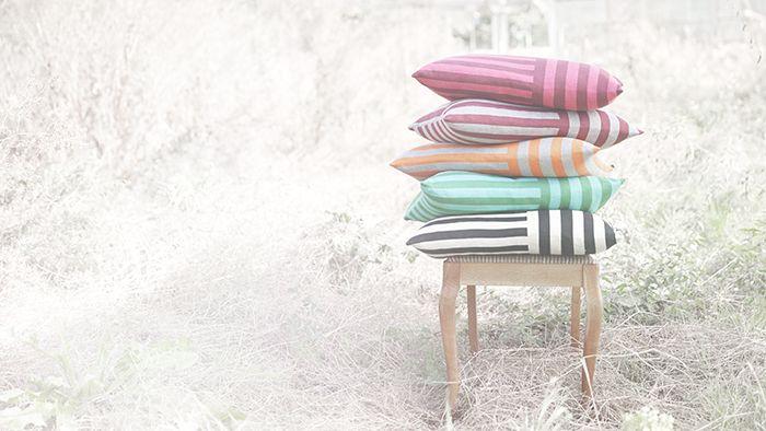 • Puder i strik / knitted cushion / made in Denmark