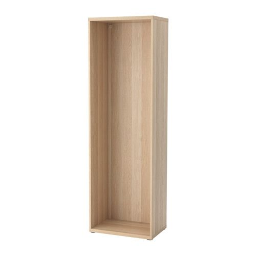 IKEA - BESTÅ, Frame, white stained oak effect, , Steady also on uneven floors, thanks to the adjustable feet.If you want to organise inside you can complement with BESTÅ interior fittings.