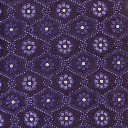 HUGO BOSS Floral tile-pattern tie
