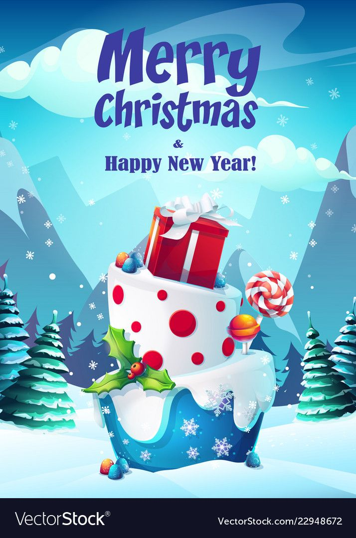 Bright Greeting Card Merry Vector Image On Vectorstock In 2020 Merry Christmas Card Greetings Merry Christmas Vector Christmas Gif