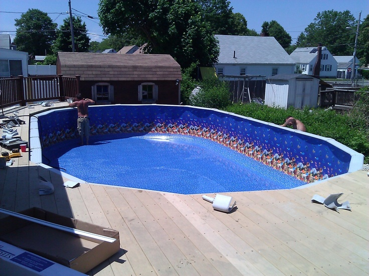 93 Best Above Ground Pool Liners Images On Pinterest Above Ground Swimming Pools Ground Pools