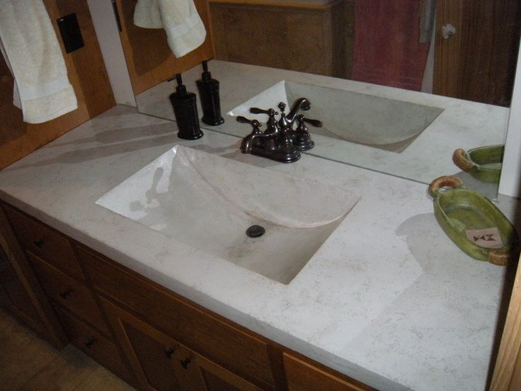 Living Stone Concrete Design Woodbury Mn United States White Concrete Vanity With An