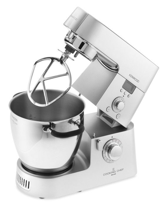 Shop Kenwood Kitchen Appliances | The Kenwood Cooking Chef all-in-one stand mixer / induction cooker / food processor, model KM080, stirs and cooks foods like risotto, pasta, and soup internally without transferring foods to the stove. 70-285 degrees F. $1,599.96