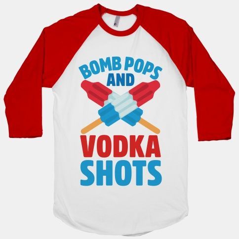 There's nothing better than a sweet 4th of July party, and this cute patriotic drinking shirt is the best possible choice to wear to the fireworks, barbecue, or parade. Get wild this July 4th and enjoy yourself with shots and bomb pops.