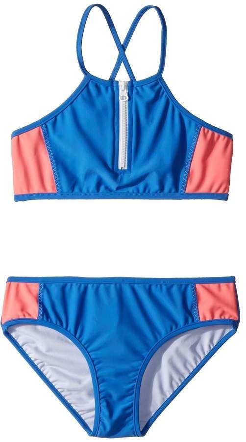 44fe91c1f2b08 Seafolly Kids - Summer Essential Color Block Tankini Set Girl's Swimwear  Sets