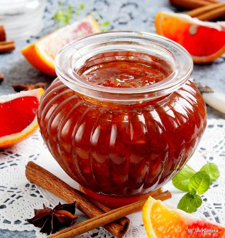 Smaczna Pyza: Konfitura z czerwonych pomarańczy