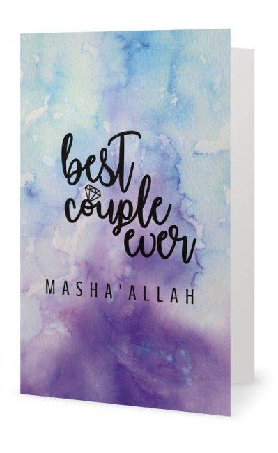 Best Couple Ever Card - Muslim Greeting Card for Nikah and Weddings