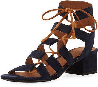 Frye Chrissy Asymmetric Lace-Up Ghillie Sandal - $111.00