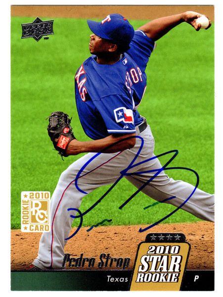 Pedro Strop Signed Texas Rangers 2010 Upper Deck Star Rookie Card #35 - Schwartz COA