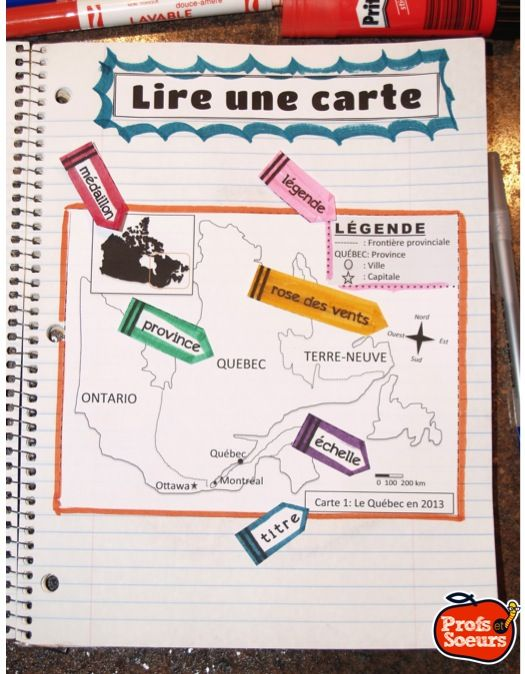 290 best Maps images on Pinterest | French classroom, Core french