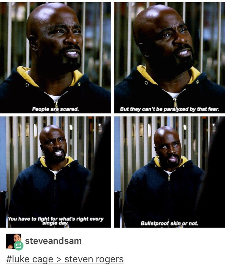 Statement definitely false but good quote. Luke Cage, power man, marvel, mcu, the defenders, avengers