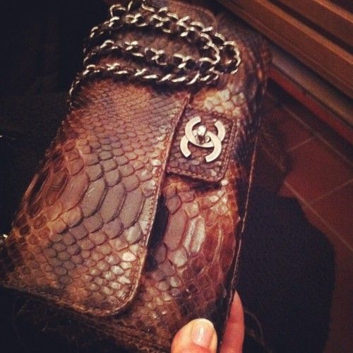 Python Chanel bag. Goodness this is sooo beautiful.