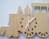 Train - Ideal clock for a boys room