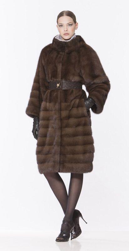 Braschi Natural Brown Mink Fur Coat