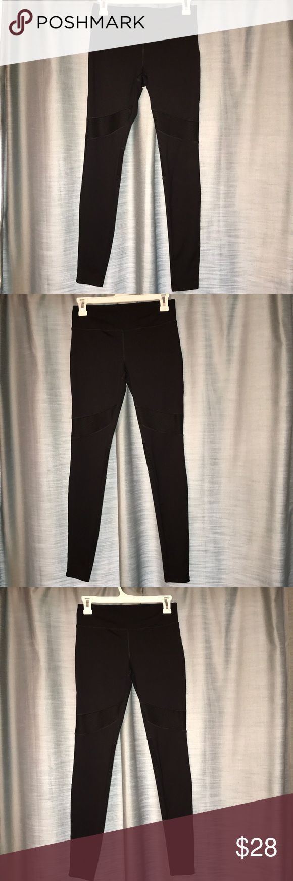 Leggings with mesh designs These are super cute, stretchy enough to where they fit just right just haven't worn them anymore after the few times I wore them. These fit true to size and are in great condition. Let me know if you have any questions! Forever 21 Pants Leggings