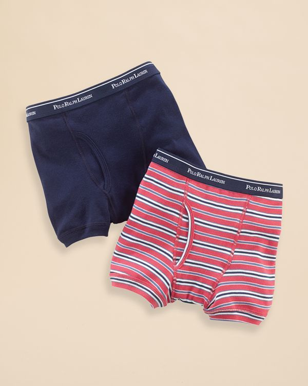 Ralph Lauren Underwear Boys' Boxer Briefs 2 Pack - Sizes Xs-xl