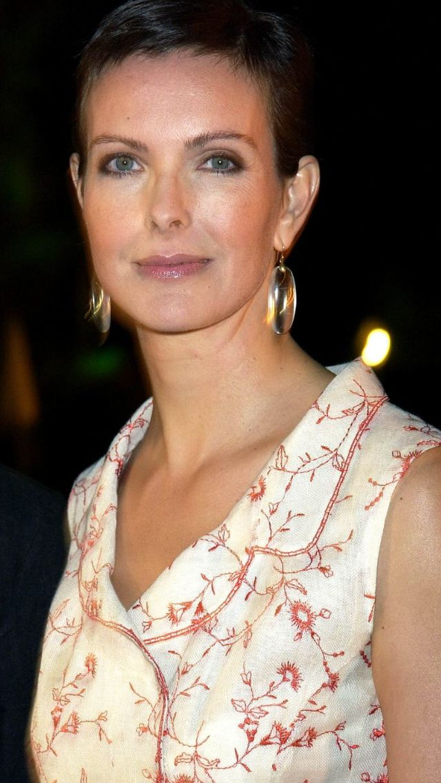Carole Bouquet with her short hair cut