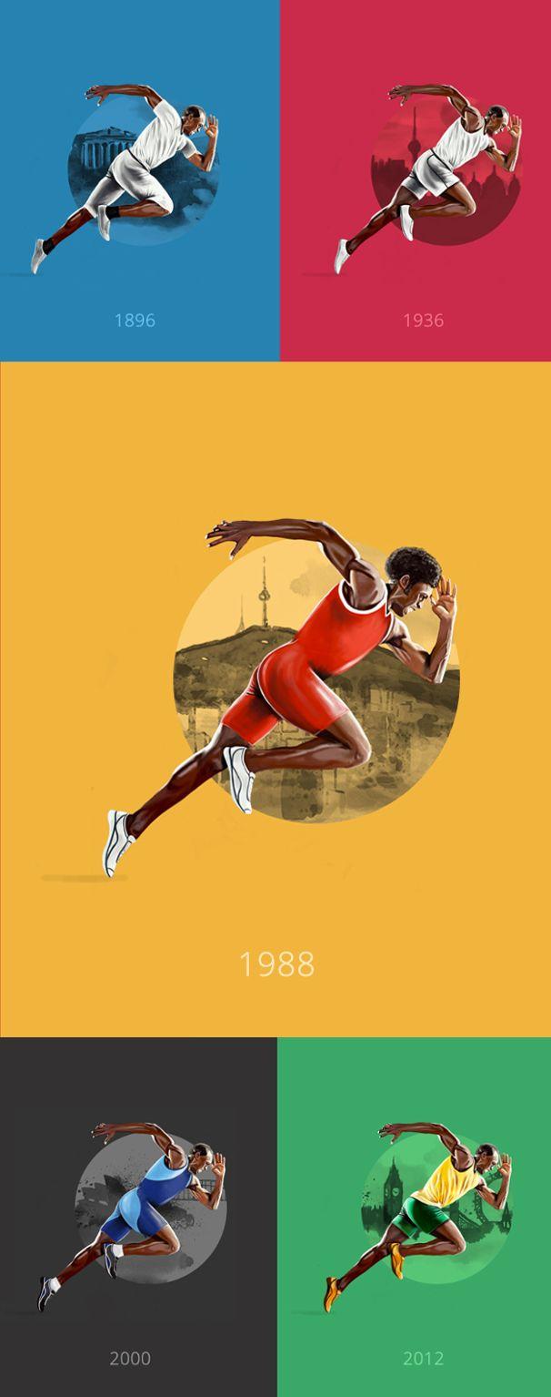 Von Athen bis Rio: 120 Jahre olympischer Style. Sehen Sie anhand der Stars von Rio 2016, wie sich der Look der Olympioniken seit Athen 1896 verändert hat ➜ Usain Bolt.