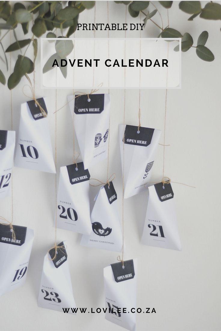 Download Our Scandinavian Style Printable Advent Calendar Lovilee Blog Online Decor Shop Printable Advent Calendar Diy Advent Calendar Advent Calenders