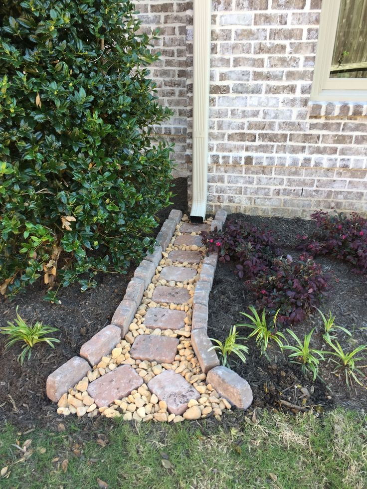 Gutter drainage, my first Pinterest project