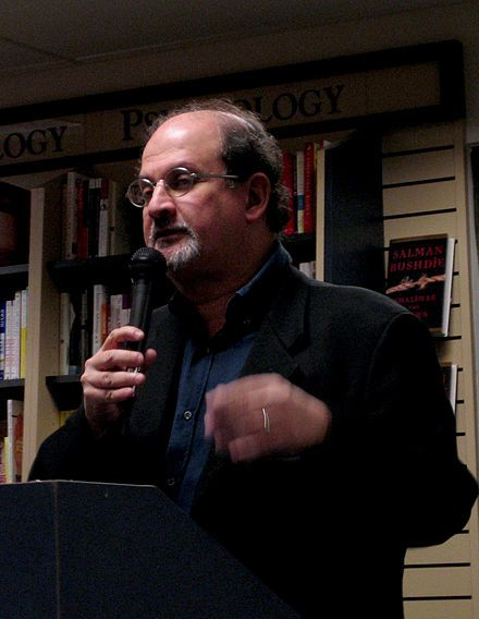 Writer Salman Rushdie was accused of blasphemy and subject of a fatwā issued by Ayatollah Ruhollah Khomeini, the Supreme Leader of Iran, in February 1989.