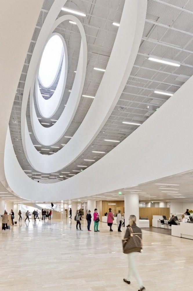Helsinki University Main Library by Anttinen Oiva Architects (Design Team Leader: Vesa Oiva) / Kaisaniemenkatu, Helsinki, Finland