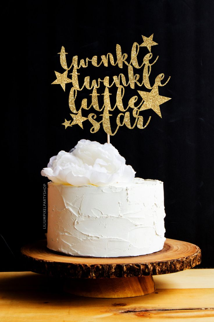 Twinkle Twinkle Little Star Cake Topper Baby Shower / Glitter Cake Topper…