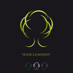 logo entreprise, logo arbre