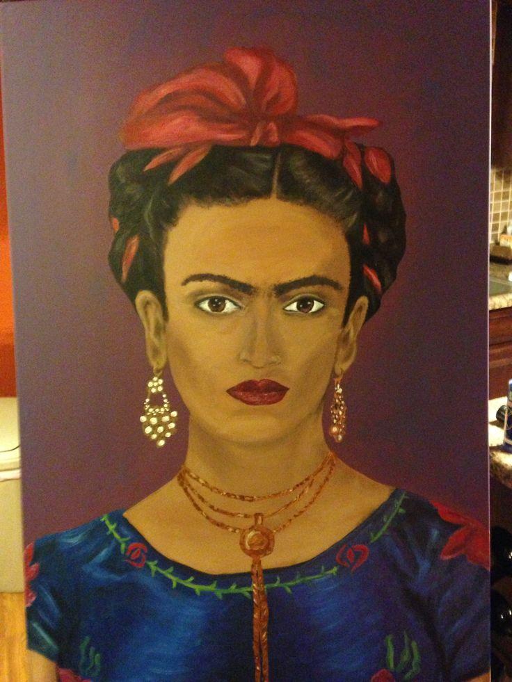 My painting of Frida