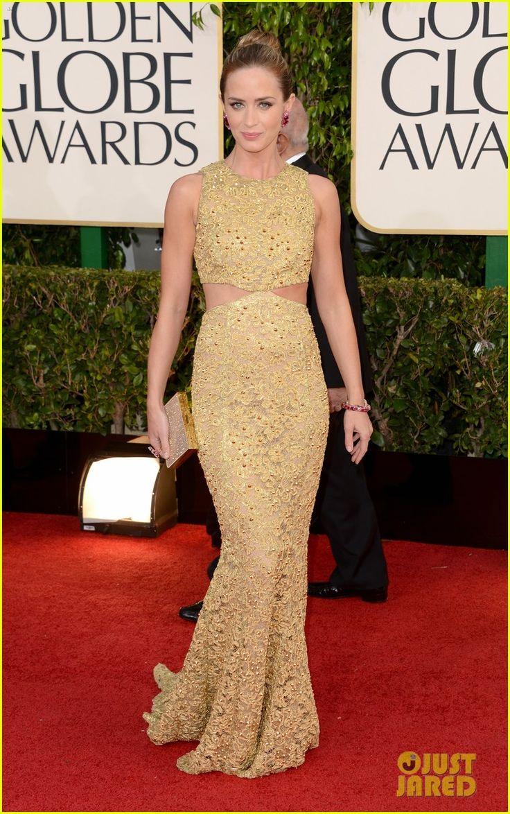 Emily Blunt & John Krasinski - Golden Globes 2013 Red Carpet