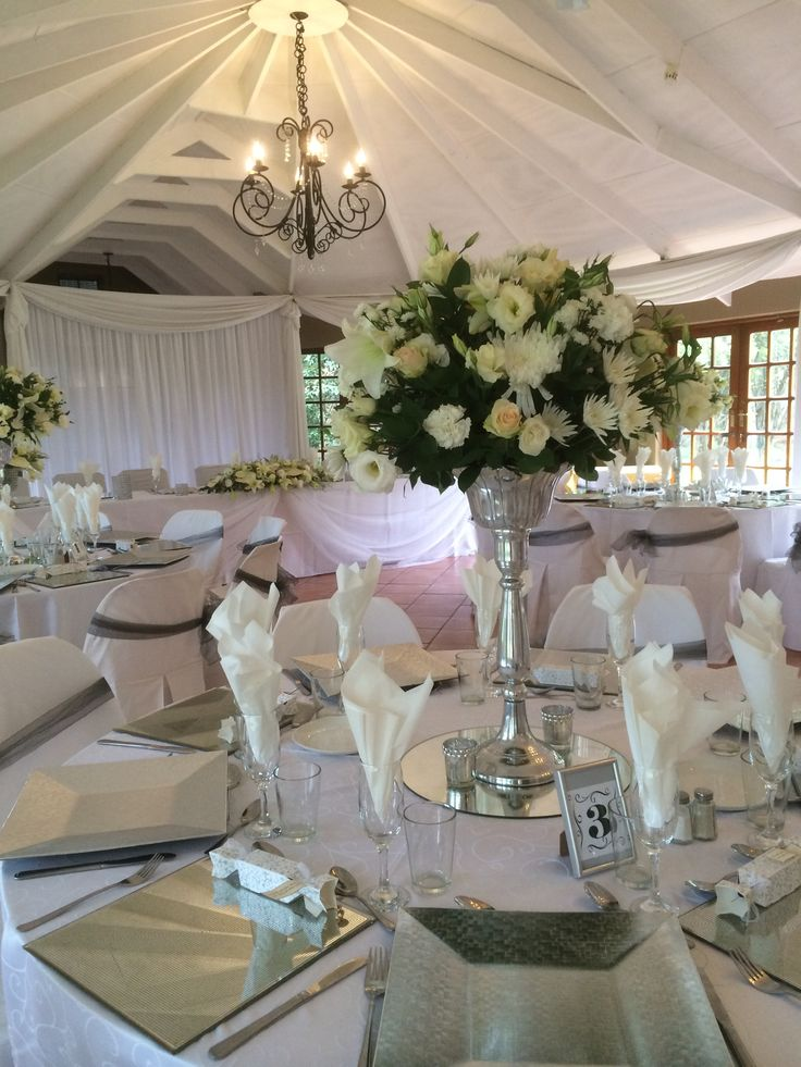 White Wedding Function @ Three Oaks Venue in Centurion www.threeoaks.co.za