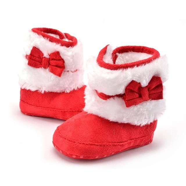 Bowknot Fleece Snow Boots for Baby /Anti-Silp Prewalker Boot