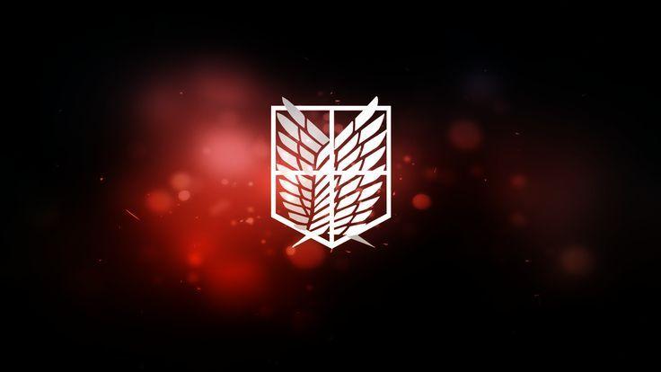 Anime Attack On Titan Emblem Scouting Legion Hintergrundbild