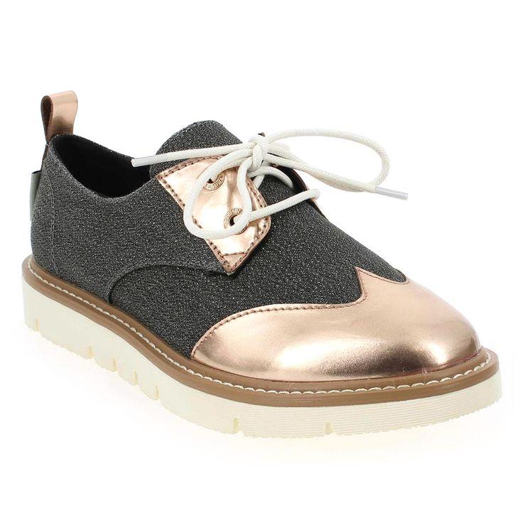 Chaussure Armistice modèle FOX DERBY SHINE, Noir Bronze - vue 0