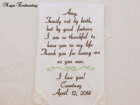 Wedding Gifts For Stepmom: 1000+ Ideas About Wedding Handkerchief On Pinterest