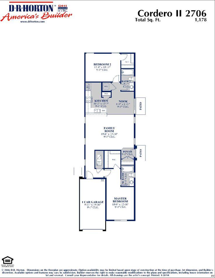 DR Horton Cordero II Floor Plan Via Www.nmhometeam.com