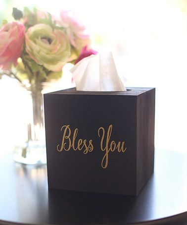 Look what I found on #zulily! 'Bless You' Tissue Box Cover #zulilyfinds