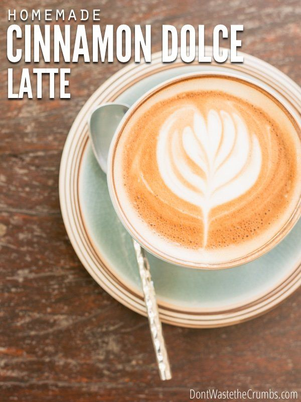 Try this copycat Starbucks recipe made at home with real ingredients that can be made for mere pennies. Treat yourself to a Homemade Cinnamon Dolce Latte! :: DontWastetheCrumbs.com