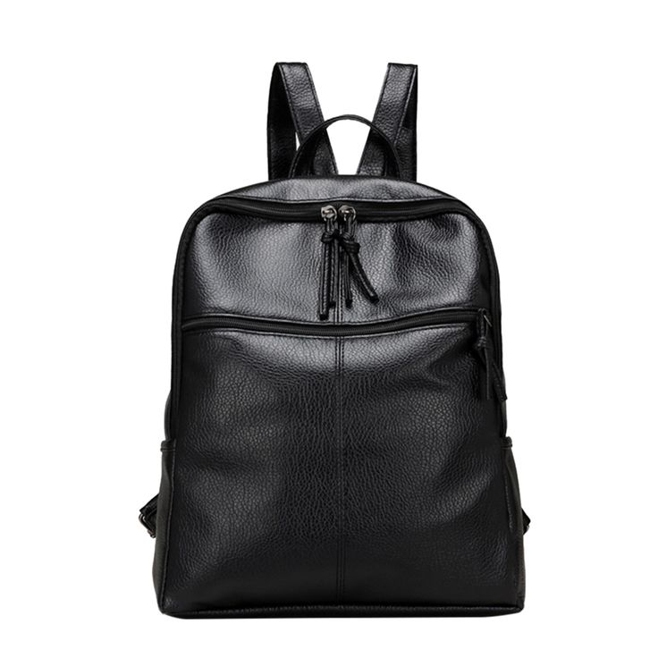 $15.98 - Awesome School Bags Backpack Women Black Wateproof Backpacks PU Leather Backpack Female School Bags Mochila Escolar For Adolescent Girls - Buy it Now!