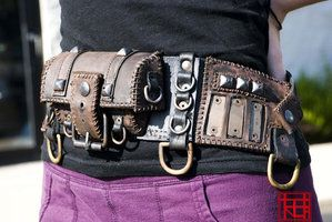 customized leather pouch steampunk/pirate by Lagueuse on deviantART