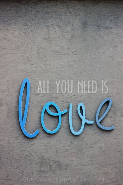 """Make This Now - """"All You Need Is Love"""" 3-d Letters using the Cricut Explore (No-Fail Crafting)"""