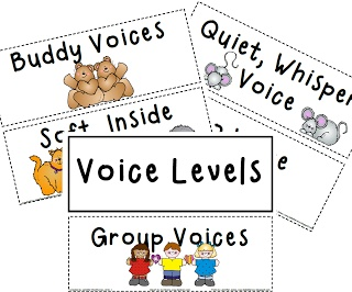 Ms. Jennifer's Kindiekins & First Graders: Daily 5 Anchor Charts & Voice Levels Freebies :)