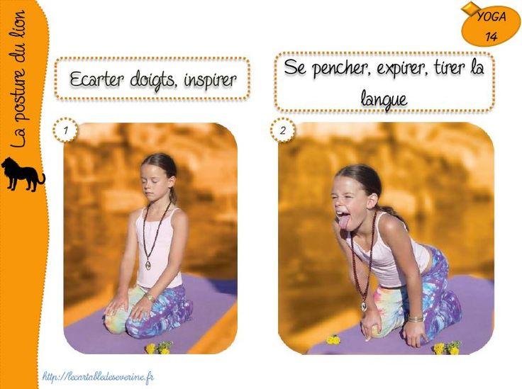 Yoga ... Mes fiches ! Pour les enfants, très bien fait
