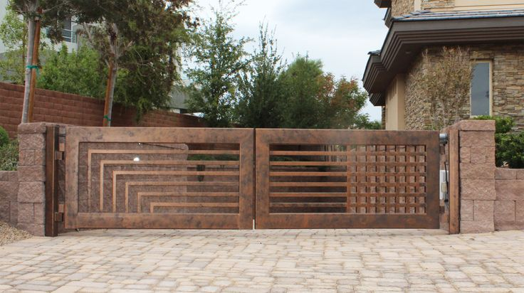 driveway gates | driveway-gate-wrought-iron-contemporary