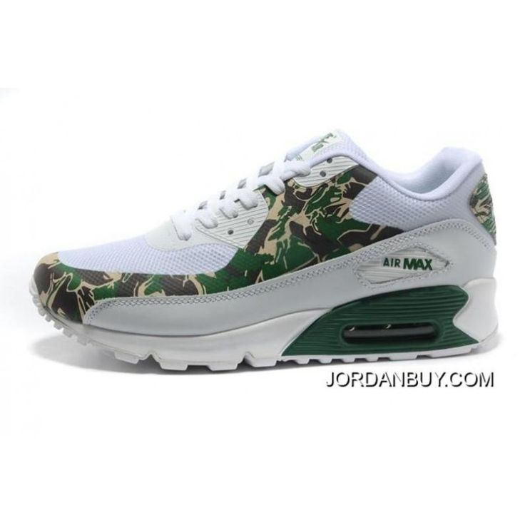 2016 Nike Air Max 90 Hyperfuse PRM Mens Shoes White Green Online