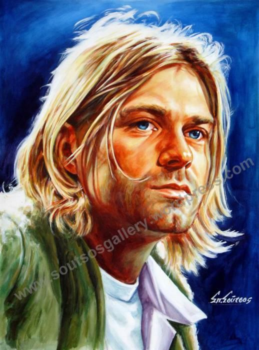 Nirvana, Kurt Cobain by Spiros-Soutsos