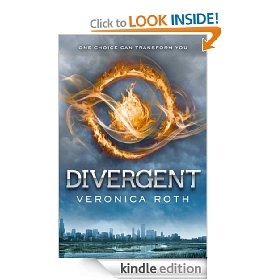 Divergent - thrilling adventure book in an altered society.  Fun to read and easy to get lost in this alternate world.  Just or preordered my Kindle version of Insergent the 2nd book to this series coming out May 1st!!
