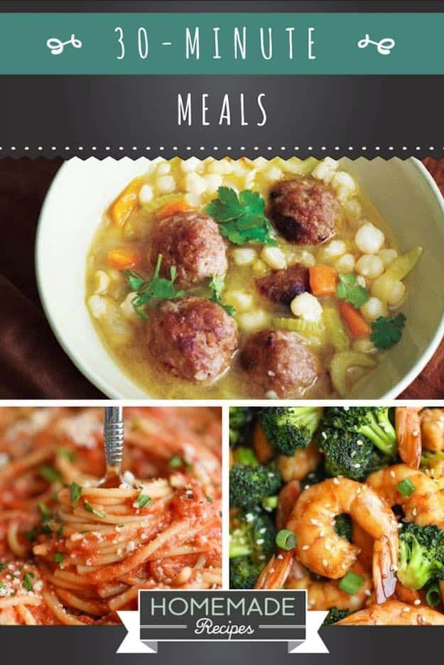 Easy 30-Minute Meals to Cook Every Night   Homemade Recipes   https://homemaderecipes.com/30-minute-meals-dinner-recipes/