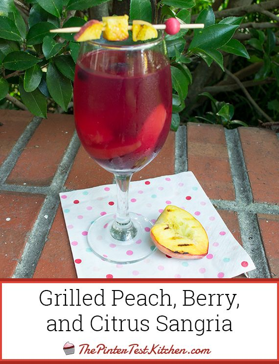 Grilled Peach, Berry, and Citrus Sangria